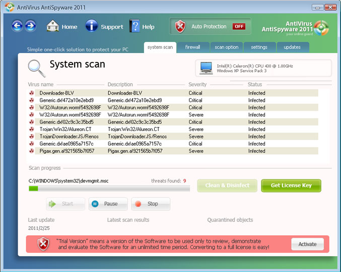 AntiVirus AntiSpyware 2011 screenshot
