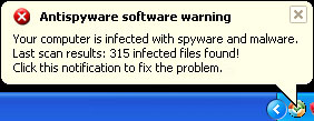 AntiVirus AntiSpyware 2011 Alert screenshot