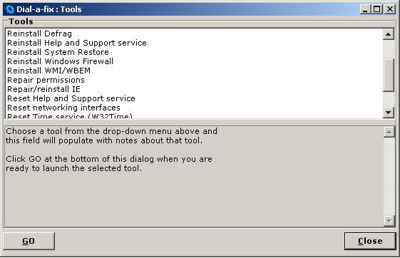 dial-a-fix, repair windows xp, repair internet explorer, repair permissions