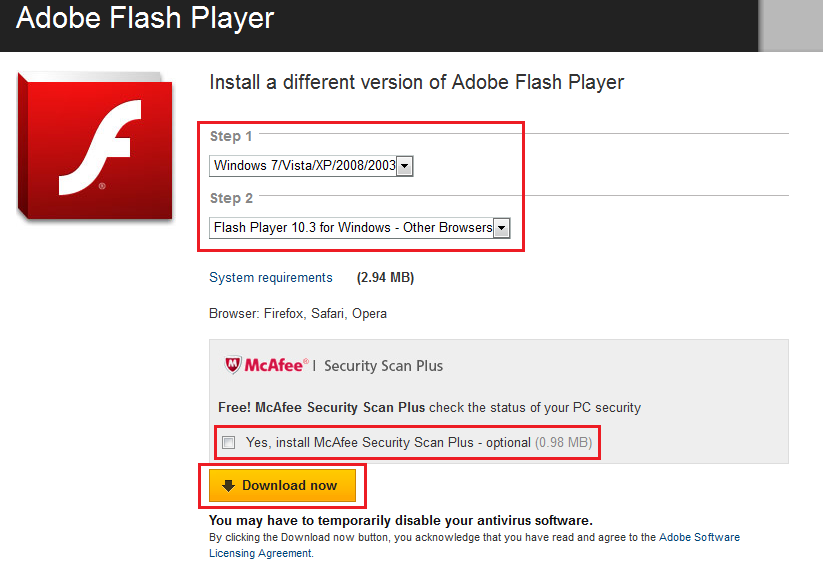 free adobe flash player for windows xp full version