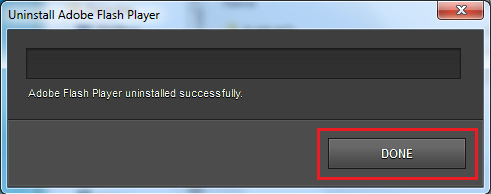 Uninstall Flash Player