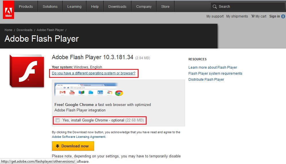 adobe flash player download offline